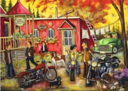 Sunday at the Shop Motorcycles Jigsaw Puzzle