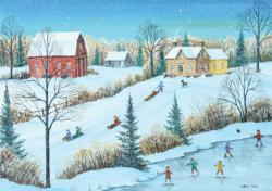 Family Party Winter Jigsaw Puzzle