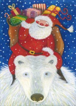 S.Mitchell-Santa Clause / Père Noël Christmas Jigsaw Puzzle