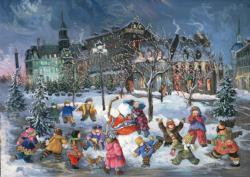 Celebrate Montreal Christmas Jigsaw Puzzle