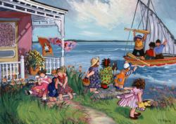 At the Cottage Seascape / Coastal Living Jigsaw Puzzle