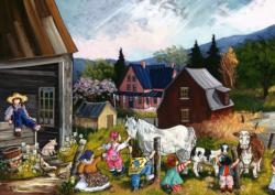 At the Farm Cartoons Jigsaw Puzzle