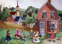A Day in the Countryside Cartoons Jigsaw Puzzle