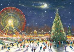 Christmas Big Wheel Christmas Jigsaw Puzzle