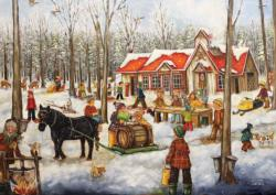 The Log Cabin Cottage / Cabin Jigsaw Puzzle