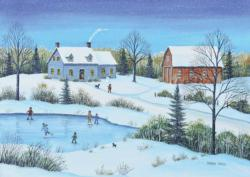 Snowfall At Dusk Winter Jigsaw Puzzle