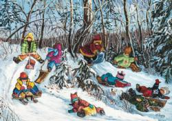 To Each His Path Snow Jigsaw Puzzle