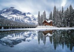 Emerald Lake Cottage / Cabin Jigsaw Puzzle