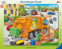 Waste Collection Vehicles Tray Puzzle