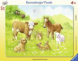 In the Pasture Baby Animals Children's Puzzles
