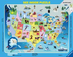 State Map Geography Children's Puzzles