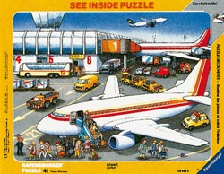 At the Airport Educational Children's Puzzles