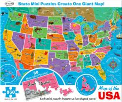 Map of the USA United States Jigsaw Puzzle