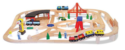 Wooden Railway Set Toy