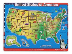 U.S.A. Map United States Children's Puzzles