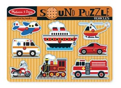 Sound Puzzle - Vehicles Vehicles Children's Puzzles