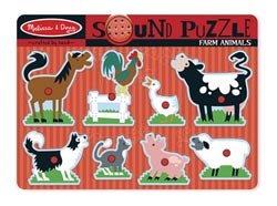 Sound Puzzle - Farm Animals Farm Animals Children's Puzzles
