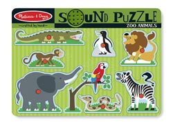 Zoo Animals Zebras Chunky / Peg Puzzle