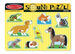 Sound Puzzle - Pets Other Animals Children's Puzzles