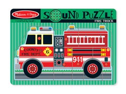 Sound Puzzle - Fire Truck Vehicles Children's Puzzles