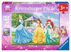 Princesses in Garden and Castle Princess Children's Puzzles
