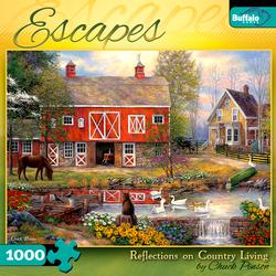 Reflections on Country Living (Escapes) Farm Jigsaw Puzzle
