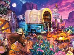 Wild West Camp - Scratch and Dent Americana & Folk Art Jigsaw Puzzle