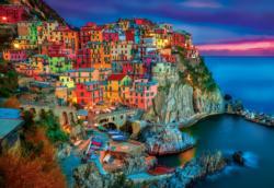Cinque Terre Seascape / Coastal Living Jigsaw Puzzle