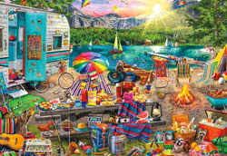 Family Campsite Nature Jigsaw Puzzle