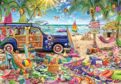 Beach Vacation Nostalgic / Retro Jigsaw Puzzle