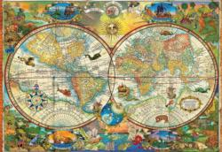 Vintage World Map Maps / Geography 2000 and above
