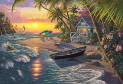 Sunset Beach Sunrise / Sunset Jigsaw Puzzle