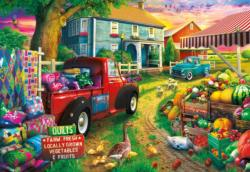 Quilt Farm - Scratch and Dent Cars Jigsaw Puzzle