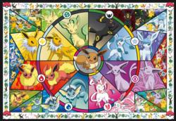 Eevee's Stained Glass Video Game Jigsaw Puzzle