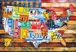Road Trip USA Fourth of July Jigsaw Puzzle
