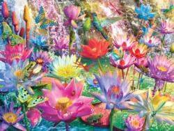 Water Lily Falls - Scratch and Dent Waterfalls Jigsaw Puzzle