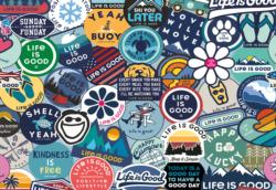 Life is Good Sticker Collage Inspirational Jigsaw Puzzle