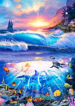 Coming Home Seascape / Coastal Living Large Piece