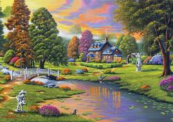 Cottage Creek Landscape Large Piece