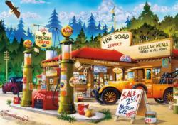 Pine Road Service Nostalgic / Retro Large Piece