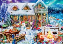 Winterland Fun Cottage / Cabin Large Piece