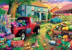 Quilt Farm Cars Large Piece