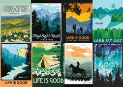 The Outdoors Poster Series Collage Large Piece