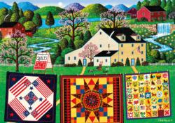 The Quiltmaker Lady Folk Art Large Piece