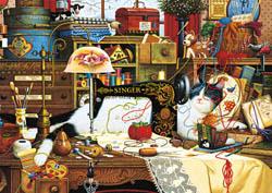 Maggie the Messmaker Americana & Folk Art Large Piece