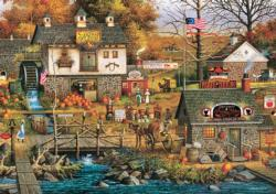Olde Buck's County - Scratch and Dent Americana & Folk Art Large Piece