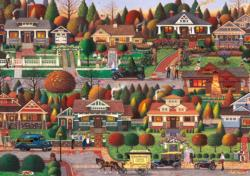 Labor Day in Bungalowville Nostalgic / Retro Large Piece