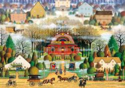 Melodrama in the Mist Americana & Folk Art Large Piece
