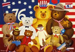 Patriotic Stuffy Bunch Bears Large Piece