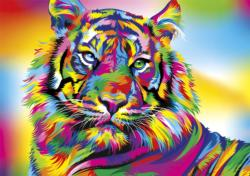 Tiger Stripes Jungle Animals Jigsaw Puzzle